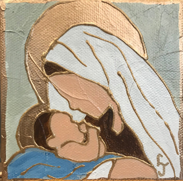 Mini Nativity Icon Painting - 318 Art and Garden