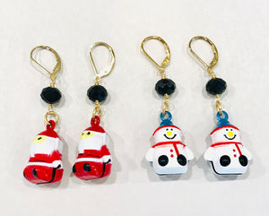 Christmas Jingle Charm Earrings - 318 Art and Garden