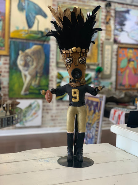 Black and Gold Football Voodoo Doll