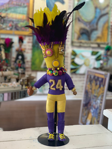 Purple and Gold Football Voodoo Doll