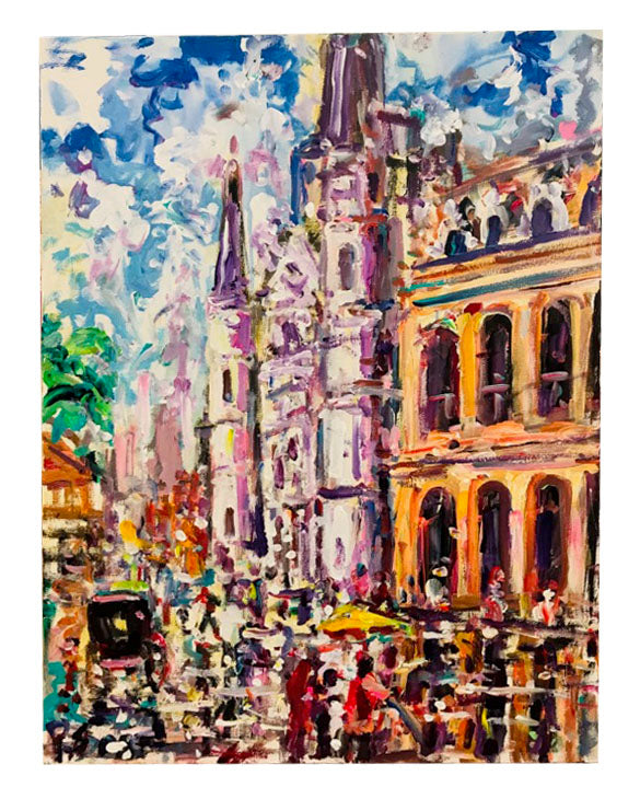 """The Cathedral-Jackson Square"" 18x24 Acrylic on Canvas - 318 Art and Garden"