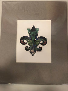 Crab Fleur De Lis - 318 Art and Garden