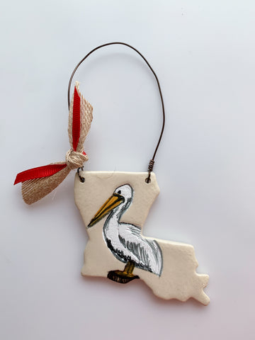 Louisiana Pelican Ornament