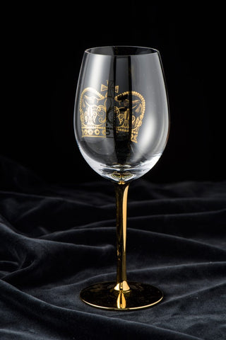 Gold Crown Wine Glass - 318 Art and Garden