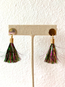 Mardi Gras Tassel Stud Earrings - 318 Art and Garden