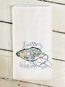 Mardi Gras Oyster Kitchen Towel
