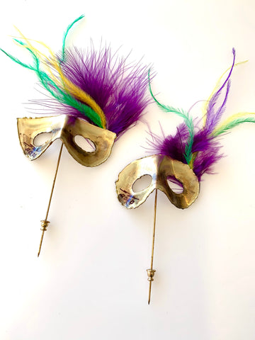 Mardi Gras Mask Stick Pin - 318 Art and Garden