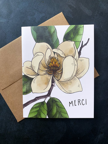 Merci Magnolia Card