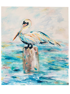 """Pelican- My Favorite Post"" 24X36"