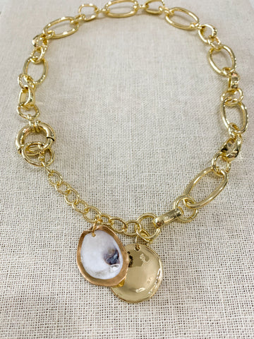 Oyster Chain Choker Necklace
