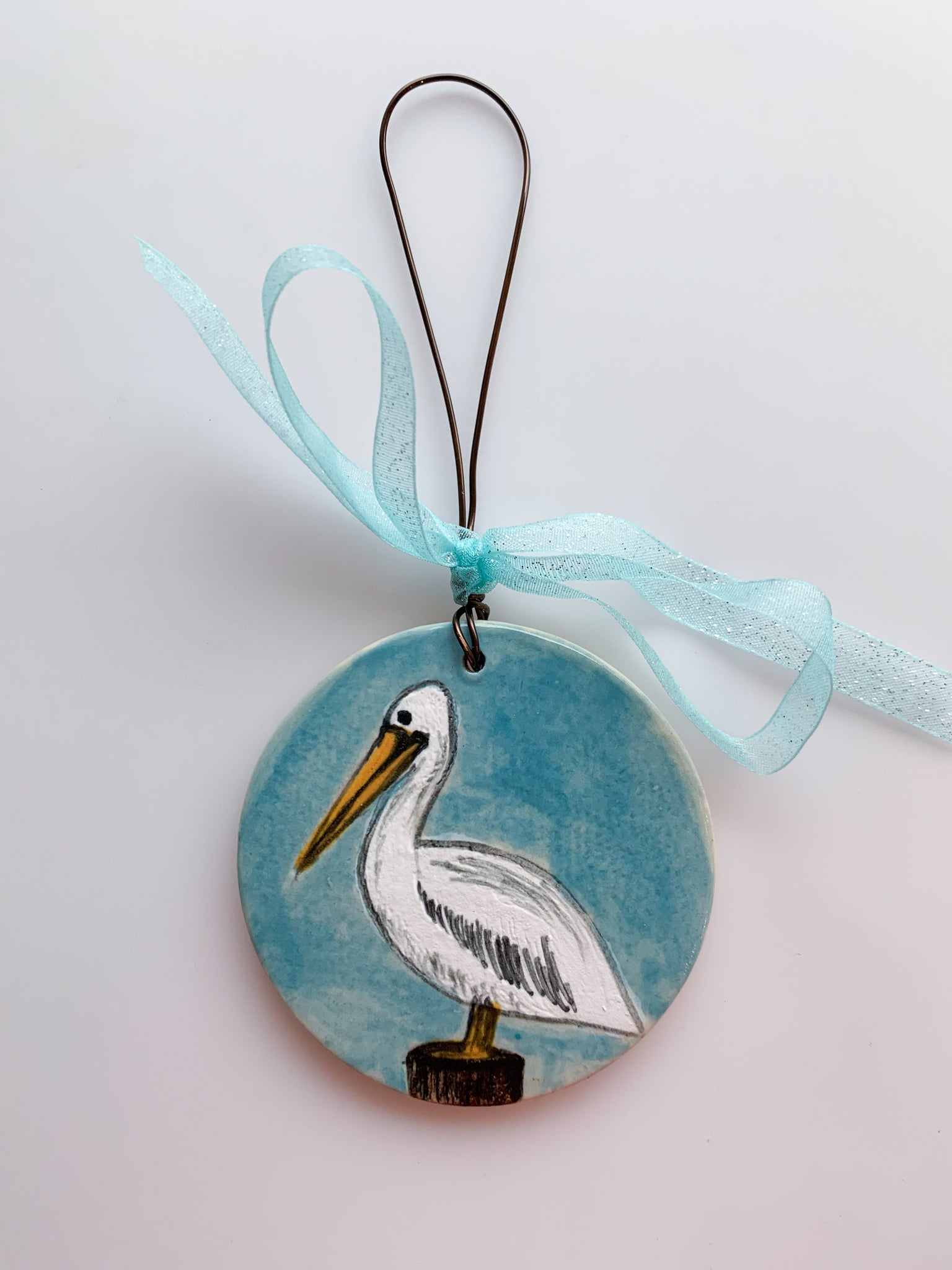 Painted Pelican Ornament