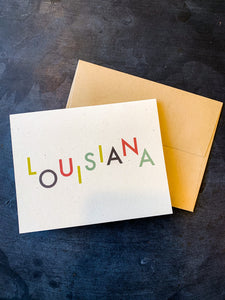 Playful Louisiana Card