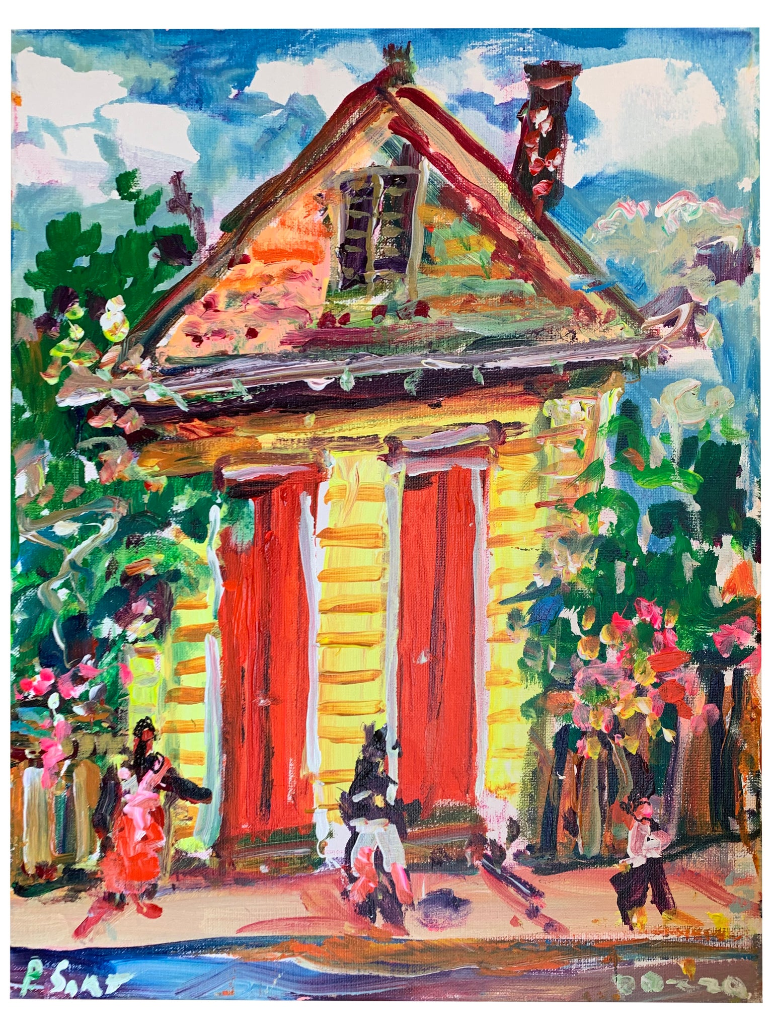Creole Cottage No. 2 16X20 - 318 Art and Garden