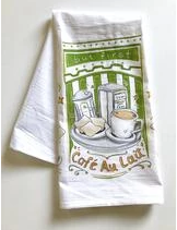 But First Cafe Au Lait Towel - 318 Art and Garden