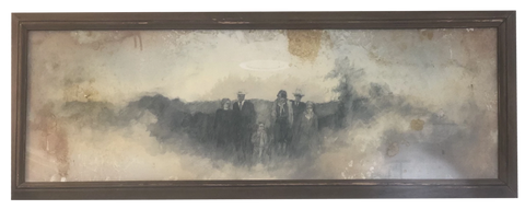 """Family Ties"" 14 X 38 Framed - 318 Art and Garden"