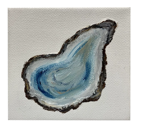 """Baby Blue Oyster"" 4X4 - 318 Art and Garden"