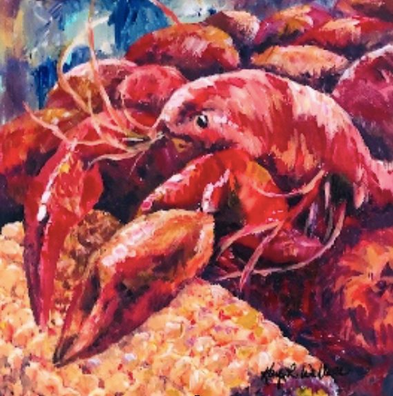 """Crawfish Pile One"" 10x10 - 318 Art and Garden"