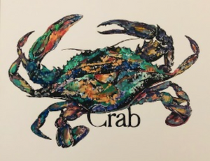"""Crab Print"" 8x10 by Kay Wallace - 318 Art and Garden"
