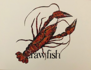 """Crawfish Print"" 8x10 by Kay Wallace - 318 Art and Garden"