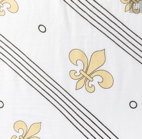 Who Dat Fleur de Lis Swaddle - 318 Art and Garden
