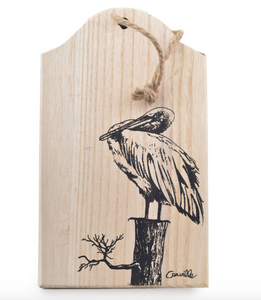 Perched Pelican Wooden Wall Art - 318 Art and Garden
