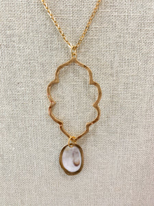 Simple Oyster Pendant Necklace