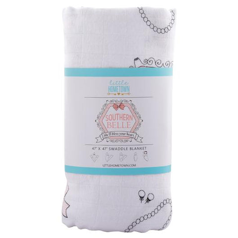 Southern Belle Swaddle Blanket - 318 Art and Garden