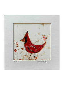 """Spotted One- Red Cardinal"" Print"