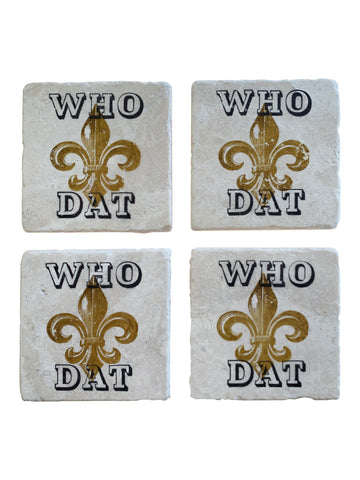 Who Dat Coaster Set