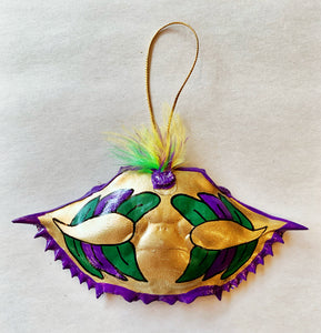 Mardi Gras Crab Ornament - 318 Art and Garden