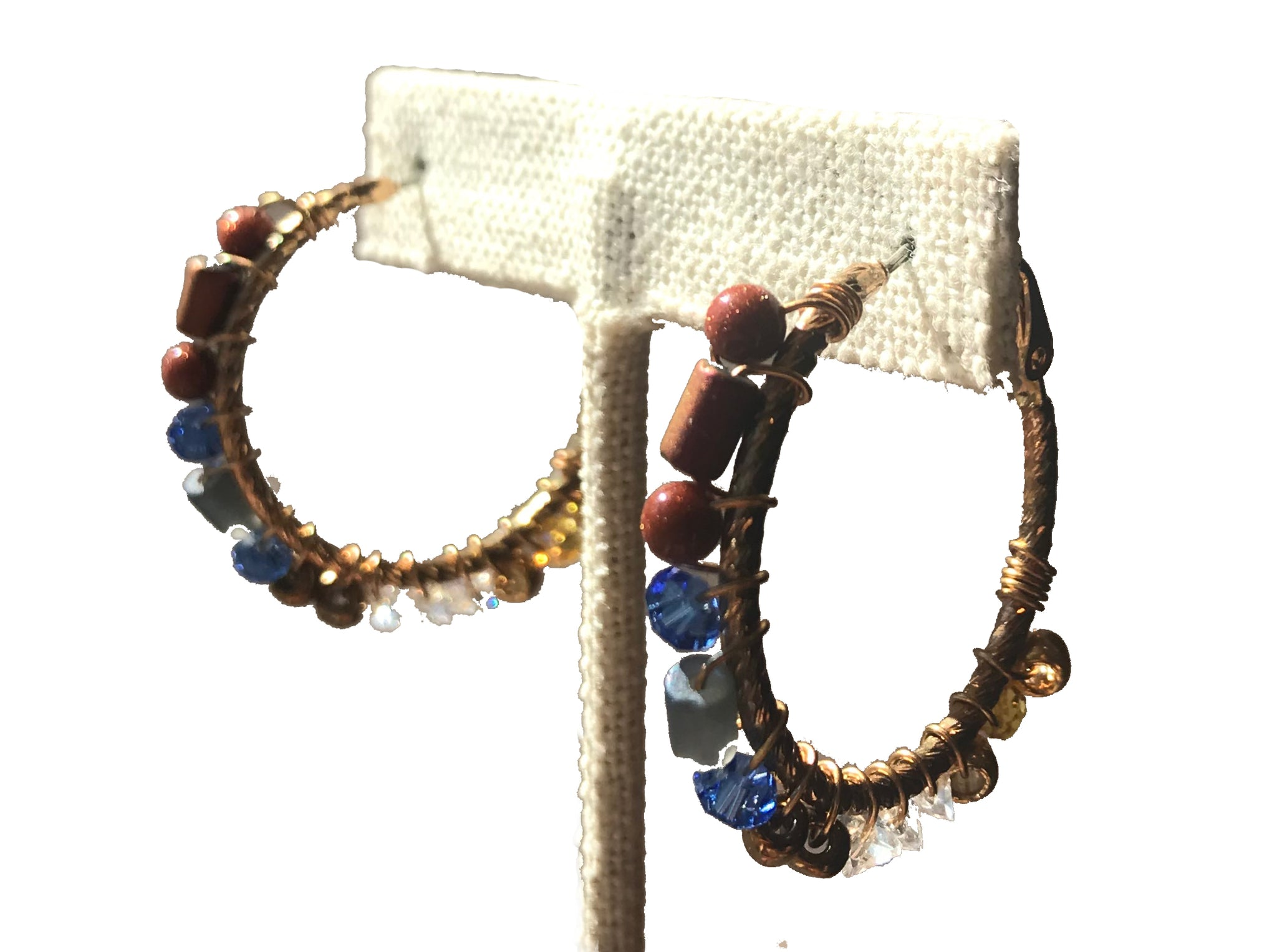 Small Hoops with Rust Blue - 318 Art and Garden