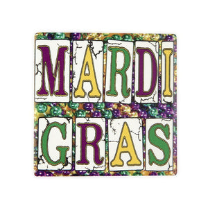Mardi Gras Coaster - 318 Art and Garden