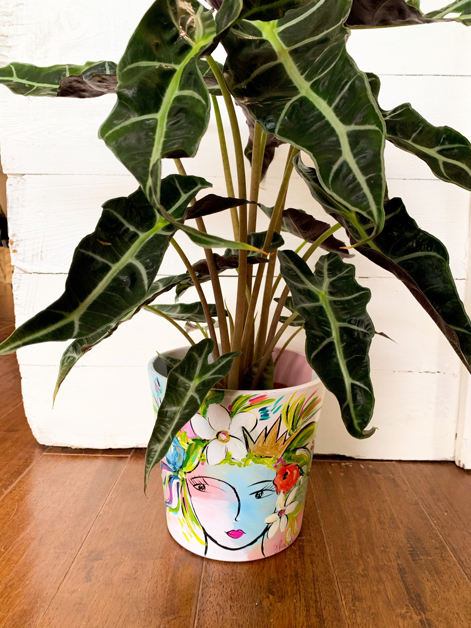 Hand-painted Goddess Planters