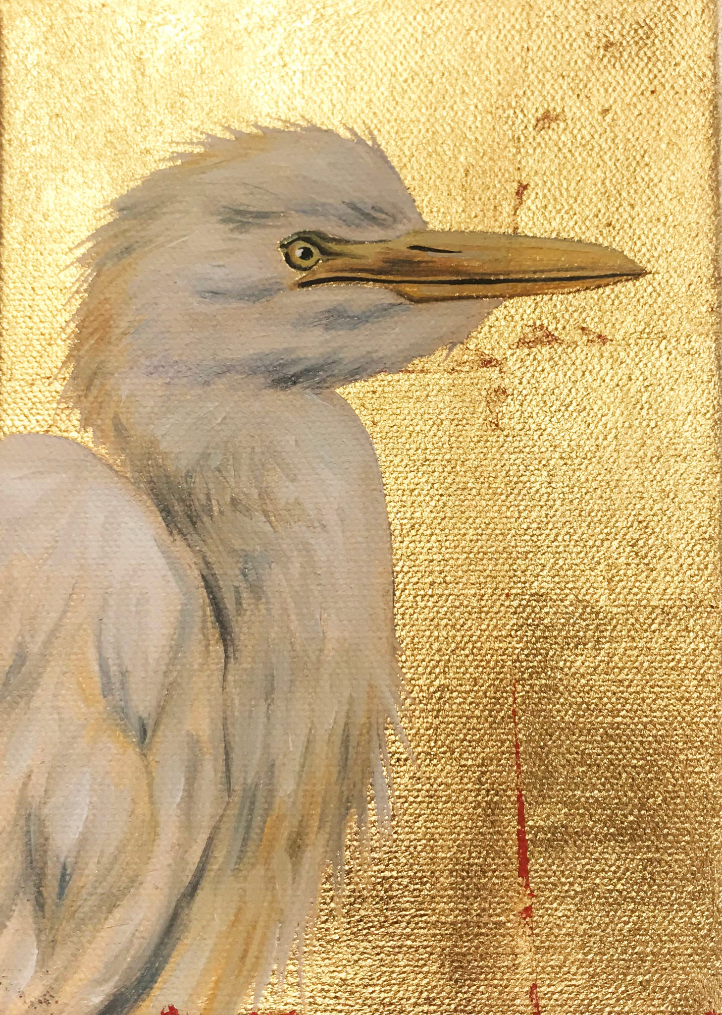 """White Cattle Egret"" - 318 Art and Garden"