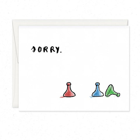 Sorry Game-Greeting Card - 318 Art and Garden