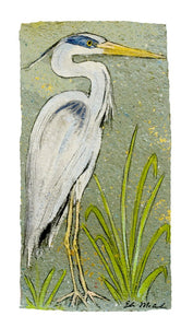 Prints-11x14 Grey Herron - 318 Art and Garden