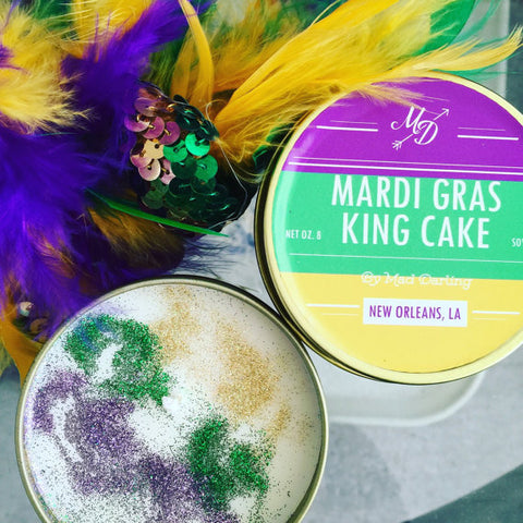 Mardi Gras King Cake Candle Tin - 318 Art and Garden