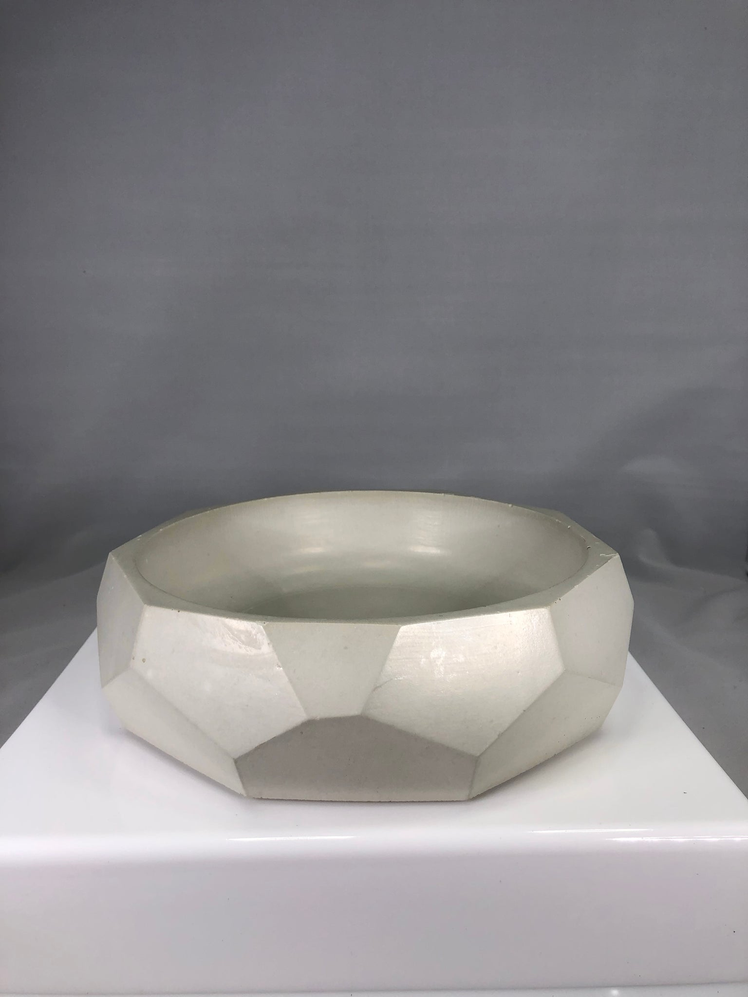 Concrete Geometric Dish - 318 Art and Garden