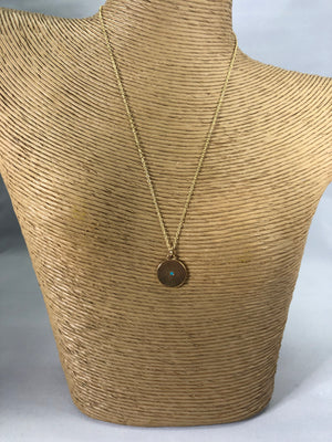 Minimal Circle Turquoise Necklace
