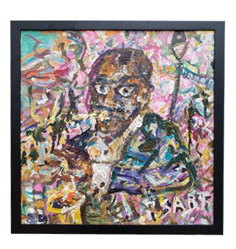 """Louis Armstrong"" 24X24 Framed"