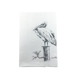 Pelican Perched Towel
