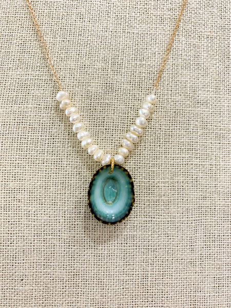 Pearl and Shell Beach Necklace