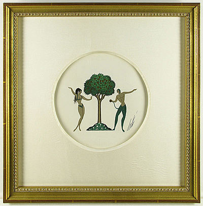 """Adam & Eve"" Erte"