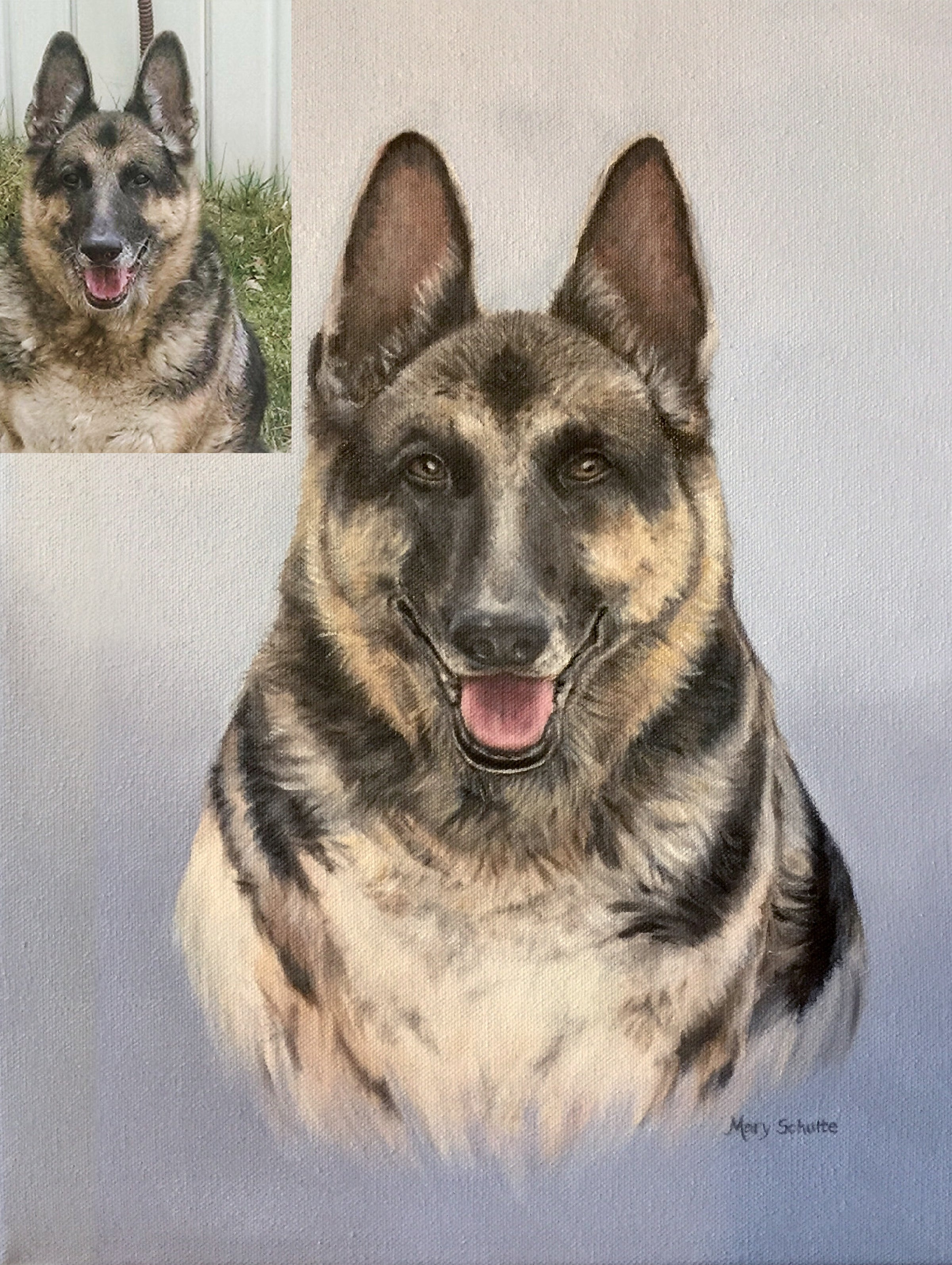 """German Shepherd"" ( Example and Not For Sale) Mary Schulte"