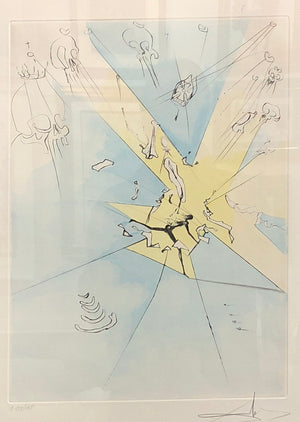 """Shattering Entrance Upon The American Stage"" - Dali"