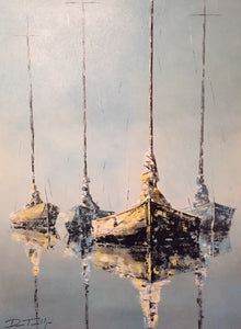 """Pastel Sail Boats"" by Terwilliger"