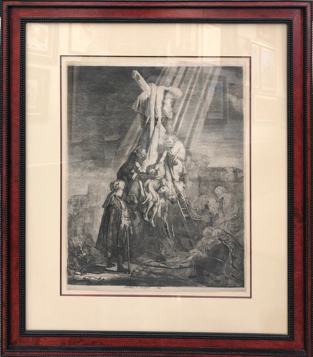 """The Decent Feom The Cross: The Second Plate"" Rembrandt"
