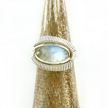 Moonstone Wire Wrapped Silver Ring
