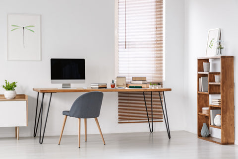 Office wood blinds