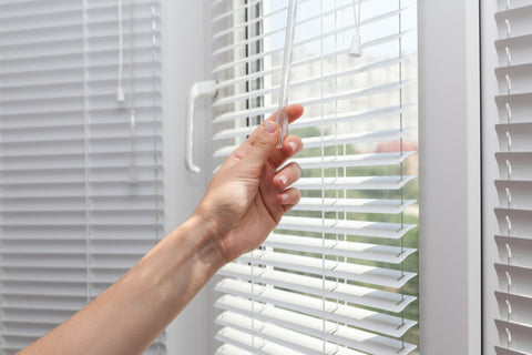 Venetian blinds with slacks that you can open and close for more lights or more privacy